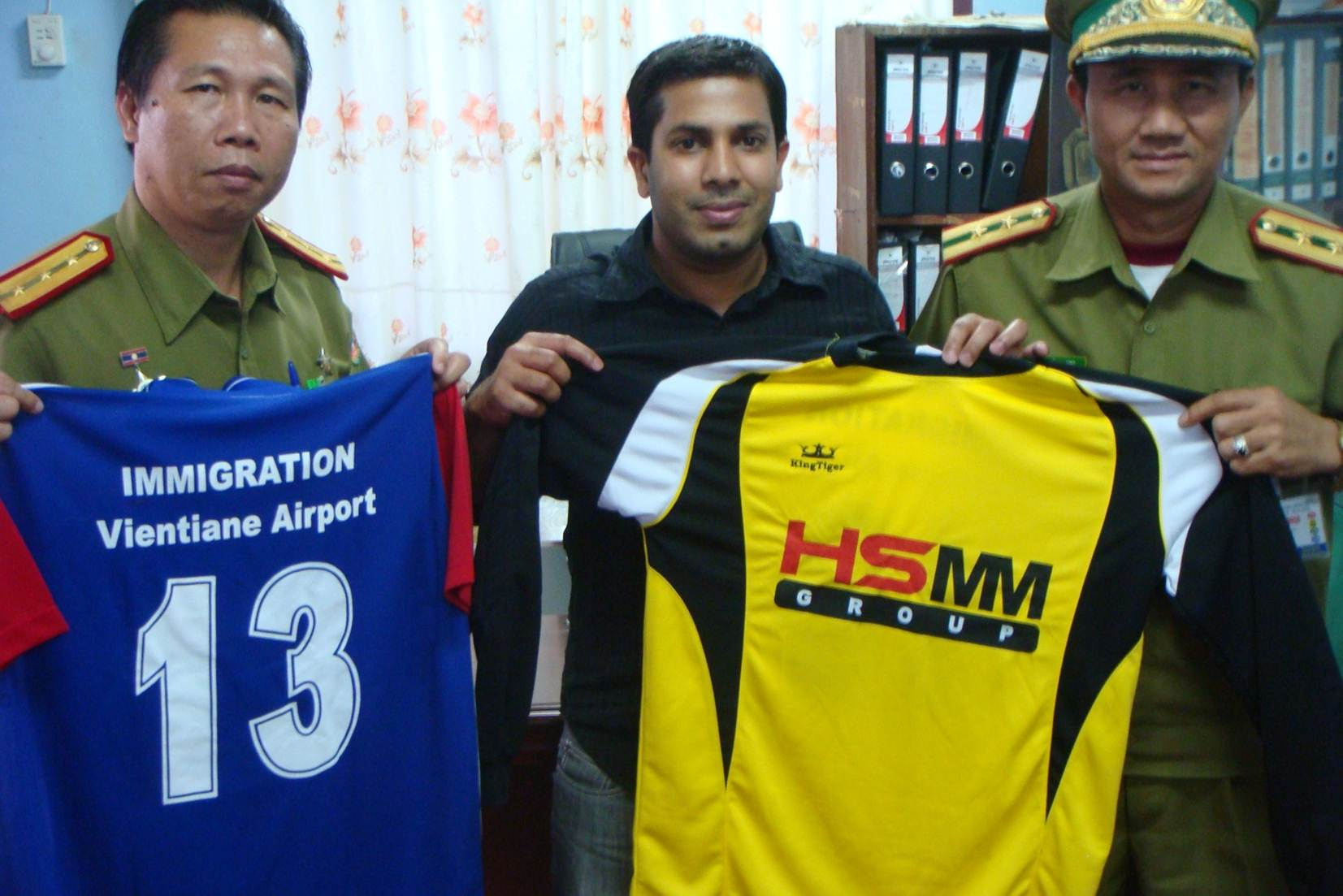 Sponsoring sports events (Airport Immigration Officers, Lao PDR)