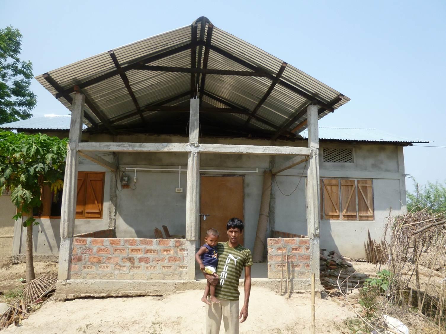 Homes for the homeless (Assam, India)