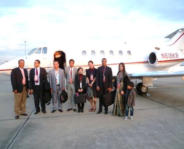 Delegation with private jet charter from Vientiane, Lao PDR to Assam and Nagaland
