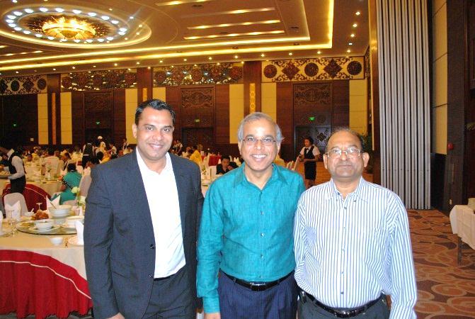 H.E. C. Gururaj Rao, Ambassador of India to Lao PDR with Mr. Habib Mohammed Chowdhury and Mr. Subhash Bhargava at Gala Dinner-9 Dec 2012