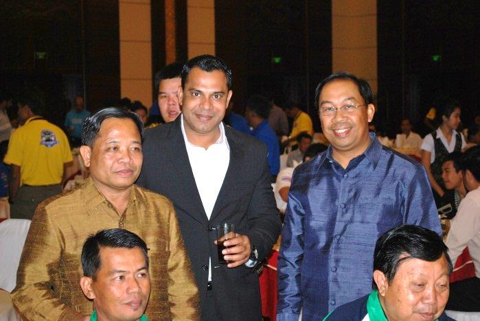Dr. Khiane PHANSOURIVONG, DG ASEAN, MOFA, Lao PDR And H.E. Dr. Emran Bin Bahar, Ambassador of Brunei to Lao PDR with Mr. Habib Mohammed Chowdhury