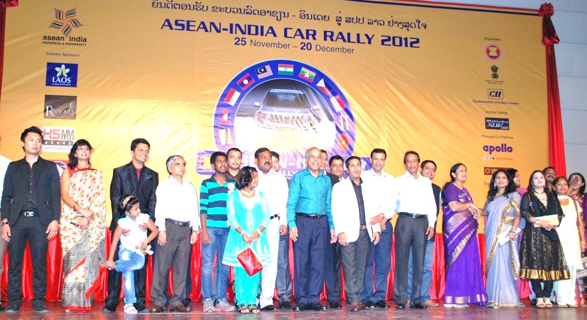 H.E. C. Gururaj Rao, Ambassador Of India to Lao PDR and Mr. Sadik Mohammad Chowdhury with other guests at ASEAN India Agri Expo 2012 Gala Dinner, Donchan Palace Hotel, Vientiane, Lao PDR-9 Dec 2012