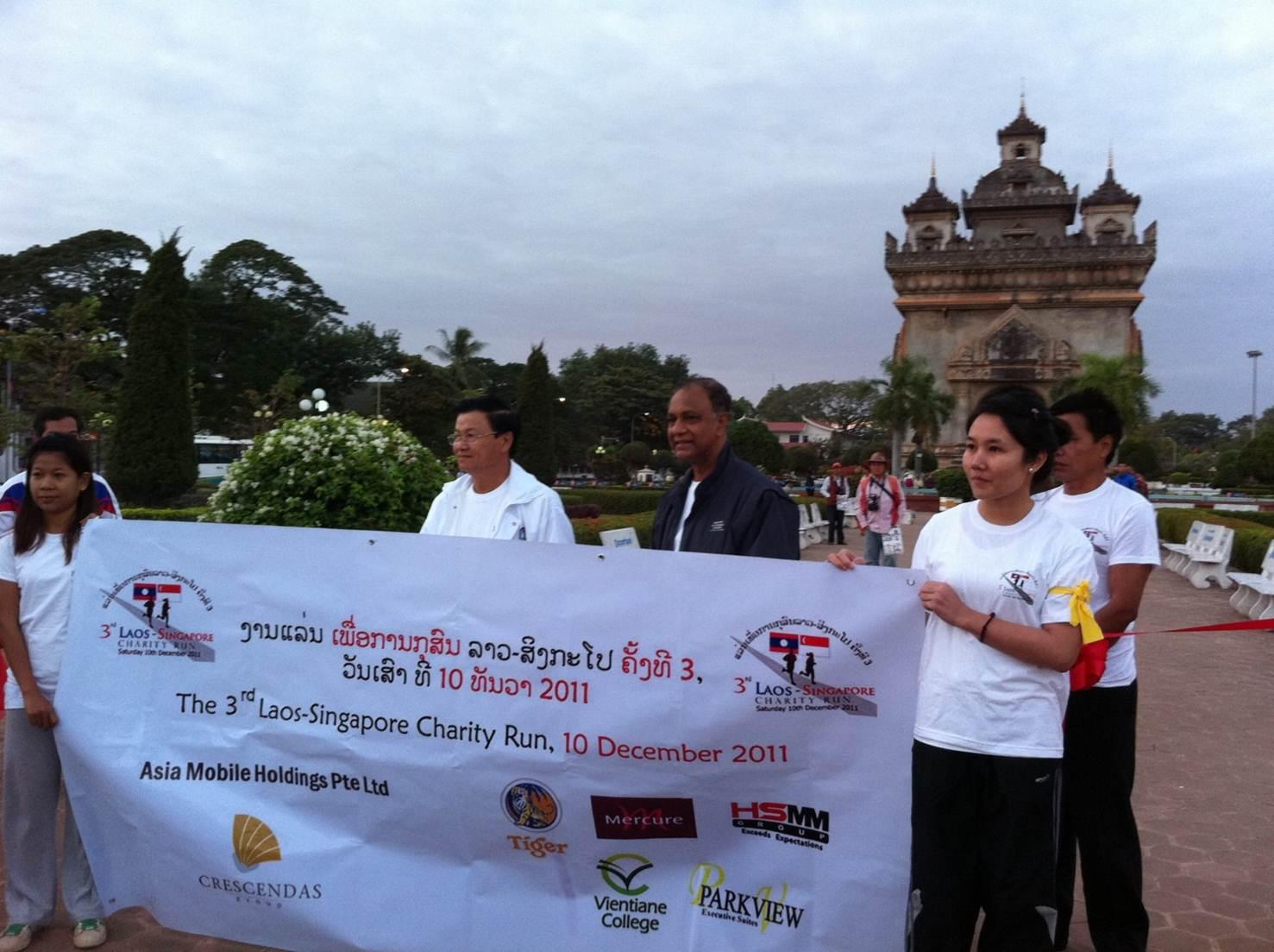 Sponsored Laos-Singapore charity run