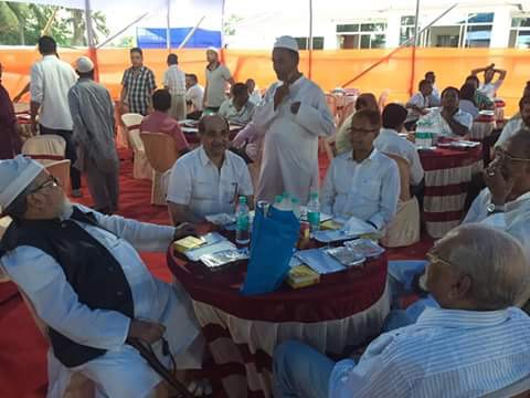 Shri Shiladitya Dev, my local BJP MLA from Hojai, Assam joining together at the Grand Iftaar Celebration at Chowdhury House, Hojai Assam on 15 June 2016.