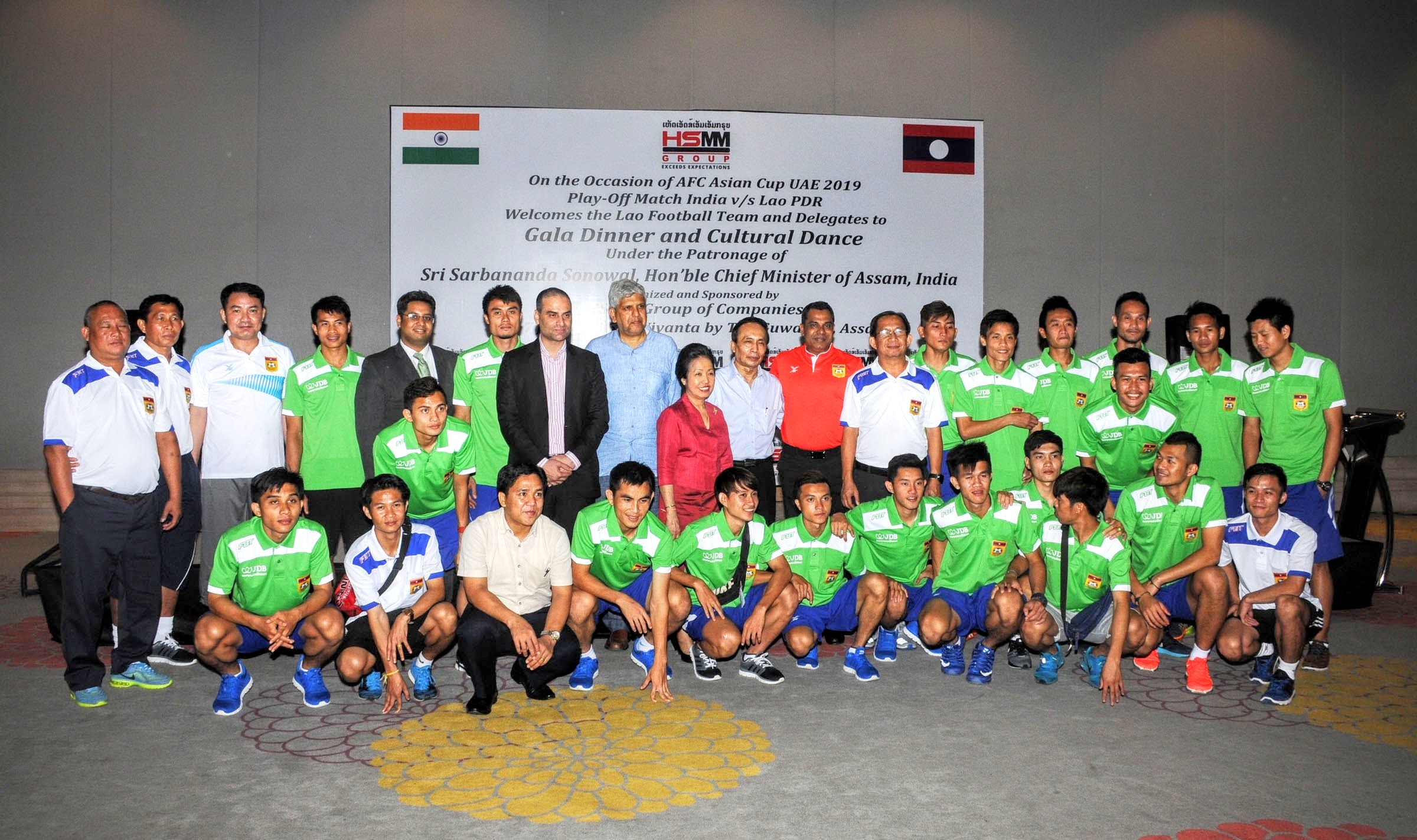 Gala Dinner on the occasion of AFC Asian Cup UAE 2019 Qualify Match India V/S Lao PDR and India - Lao PDR Bilateral Trade and Cultural Exchange Press Conference sponsored by HSMM Group of Companies at Vivant by Taj, Guwahati, Assam, India on 07-08 June 2016