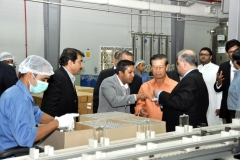H.E. Somsavat LENGSAVAD, Deputy Prime Minister, Lao PDR and Standing Member Of Government with Mr. Sadik Mohammad Chowdhury, MD. L.A.I.D., HSMM Group visiting perfume factory In Dubai, 2012.