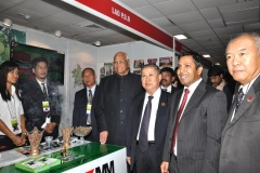 H.E. Sharad Pawar Minister of Agriculture of India, H.E. Vilayvanh PHOMKHE Minister of Agriculture and Forestry of the Lao PDR, Mr. Xaypladeth CHOULAMANY Director General, Department of Planning And Cooperation, MAF With Mr. Sadik Mohammad Chowdhury, MD L.A.I.D., HSMM Group at Lao PDR stall during 2nd ASEAN-India Ministerial Meeting on Agriculture and Forestry and ASEAN India Agri-Expo, New Delhi, India 18 Oct 2012