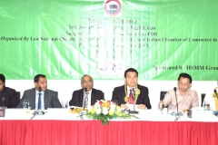 H.E. Dr. Phet PHOMPHIPHAK Vice Minister of Agriculture and Forestry Lao PDR, H.E. C. Gururaj Rao Ambassador Of India, Mr. Mai SAYYAVONG DG Europe And America Department, Mr. Oudet SOUVANNAVONG Vice President LNCCI, MR. Muturaja BARI President of INCHAM with Mr. Habib Chowdhury Chairman & MD HSMM Group at a press conference at 3rd Northeast Regional Agri Expo, Nagaland, India, 12 Nov 2012 (Vientiane, Lao PDR)