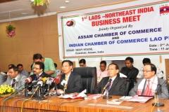 H.E. Dr. Nam VIYAKETH at press conference, Guwahati, Assam, India
