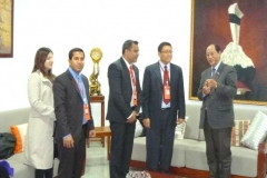 Delegation members with H.E. Mr. Neiphiu Rio, Chief Minister of Nagaland, India