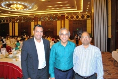 H.E. C. Gururaj Rao, Ambassador of India to Lao PDR with Mr. Habib Mohammed Chowdhury and Mr. Subhash Bhargava at Gala Dinner-9 Dec 2012