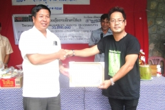 Received Certificate in 2010 Donation for Ethnic School, Suan Lang Xiengngen, Luang Prabang, Lao PDR: 35 million Kip