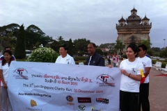 Sponsored Laos-Singapore charity run