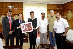 First time in 59 Years of Diplomatic Relations between India and Lao PDR, the Ambassadors of both countries having Bilateral Trade development meeting with Chief Minister of a state in North East India.- With Shri Sarbananda Sonowal, Hon'ble First BJP Chief Minister of Assam, India, H.E. Southam Sakonhninhom, Hon'ble Ambassador of Lao PDR to India, H.E. Ravi Shankar Aisola, Hon'ble Ambassador of India to Lao PDR and Shri Rajan Gohain, Hon'ble Member of Parliament at Lao PDR - Assam(India) Bilateral Trade, Sports and Cultural Exchange Meeting Assam, India on 07 June 2016.