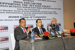 """""""Address by Mr. Habib Mohammed Chowdhury, Founder Chairman and Managing Director of HSMM Group of Companies, Lao PDR"""" - In 59 years of Diplomatic relation between India and Lao PDR, first time the Hon'ble Indian and Lao PDR Ambassadors of the respective countries in Assam, India for developing the Bilateral Trade and Cultural Exchange between Lao PDR and Assam (India) - Supporting the Act East Policy on 8th June 2016 (organized by HSMM Group of Companies)"""