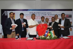 HSMM Group of Companies, the Official Sponsor for Lao Football Federation at Lao Football Federation Headquarters, Vientiane, Lao PDR on 26 May 2016.