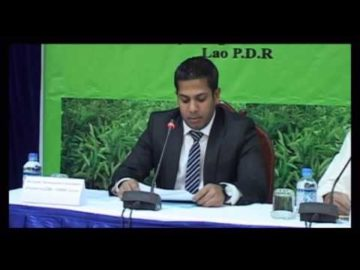 Mr. Sadik Mohammad Chowdhury, MD of L.A.I.D at First Lao Agar Development Conference