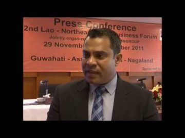 Mr. Habib Mohammed Chowdhury at 2nd Lao Northeast India Business Forum, Press Conference