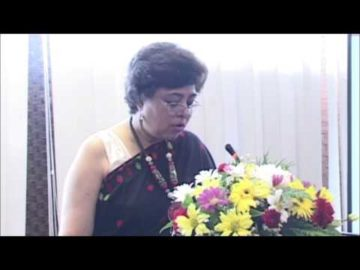 Ms. Indrani Chaudhury at India-Lao PDR Business Seminar sponsored by HSMM Group
