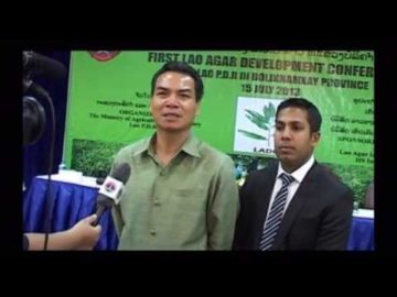 H.E. Dr. Phet Phomphiphak at First Lao Agar Development Conference