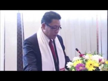 H.E. Dr. Kikeo Chanthaboury at India-Lao PDR Business Seminar sponsored by HSMM Group